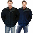 NEW MEN'S SKY DIVER BOMBER WARM NORWAY PADDED CHECK LINED HEAVY WORK JACKET