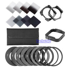Complete 2/4/8/16 ND Filter Kit For Cokin P+Square Filter Holder+Adapter+Hood