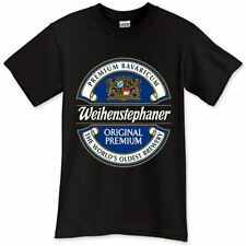 New Weihenstephaner Beer Brewery Promo Logo Black T-Shirt TShirt Tee Size S-3XL