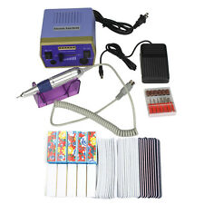 ProManicure Pedicure Electric Nail File Drill Machine Buffer Tool Set Kit Bit US
