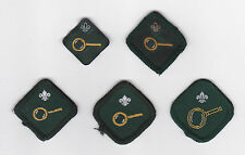 1960-2000's BRITISH / UK SCOUTS - SCOUT COLLECTOR PROFICIENCY BADGE (5 VAR)