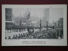 POSTCARD ROYALTY FUNERAL OF KING EDWARD VII - LEAVING WESTMINSTER HALL