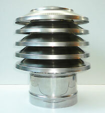 CHIMNEY COWL Stainless Steel Rain Cap Anti Down Draught INOX to fit 6'' / 150mm