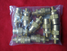 "LOT OF 10 NEW FAIRVIEW 1492-6C 3/8"" NPT X 3/8"" HOSE AIR BRAKE BRASS FITTINGS NEW"