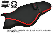 GRIP & CARBON VINYL RED STRIPE CUSTOM FITS YAMAHA MT 10 1000 16-17 SEAT COVER