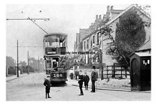 pt0650 - Tram at Hillsborough Terminus Sheffield , Yorkshire - photo 6x4
