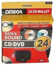 CD/DVD Disc Wallet 24 Omega 23624 Protective Carry Case Lightweight Car Holder