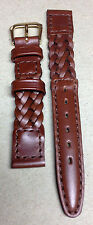 LOT OF 25 - 13mm BROWN BRAIDED WOVEN WATCH BANDS! WHOLESALE LOT! WOW!