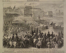 CORONATION OF FRANCIS JOSEPH OF AUSTRIA AS KING OF HUNGARY 1867 HARPER'S WEEKLY