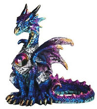 BLUE GEM        Small Standing Dragon   Statue   H4.5""