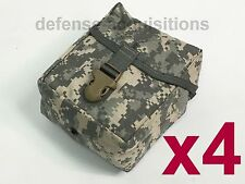 LOT OF 4 NEW Military Issue ACU IFAK MOLLE First Aid Pouch / Large Utility Pouch