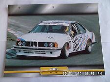 CARTE FICHE VOITURES D'EXCEPTION BMW 635 CSI course
