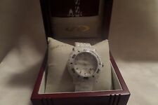 Oniss ON8110-L Women's Oversized Swiss White Ceramic Chronograph Watch NIB