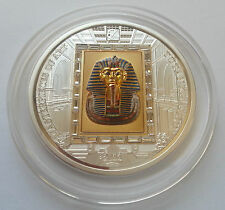 2011 Cook Islands $20 Masterpieces of Art Swarovski TUTANKHAMUN gold silver coin