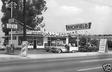 RICHFIELD STATION BORON GAS PONTIAC 1950's GRAND OPENING free chicken w fill's