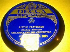 ORLANDO AND HIS ORCH LITTLE FLATTERER & IN A CLOCK STORE DECCA F3041