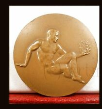 XXL STADIUM GAMES FRENCH ART BRONZE MEDAL NUDE MALE