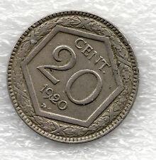 20 CENTS 1920 HEXAGON Vittorio Emanuele III RARE money lire coins ( 01 coin
