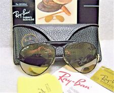 "RAY-BAN VINTAGE B&L AVIATOR ""THE GENERAL"" W0510 RB-50 Blk-Chrome *NOS SUNGLASSES"