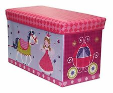 Toy Boxes Chests Girls Princess Storage Box Organizer Child Bedroom Living Room