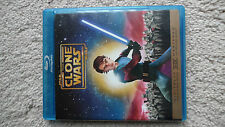 Star Wars: The Clone Wars Animated Movie (Blu-ray Disc) RARE OOP MINT
