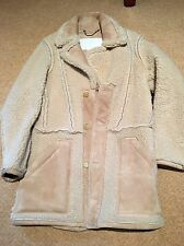 Martin Margiela For H & M Shearling Reverse Coat Size S Never Worn
