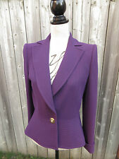 Stunning CARVEN Purple Wool Blazer Sz. 40 (4 US) Made in France
