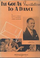 I've Got An Invitation To A Dance Piano Guitar Voice Sheet Music Leff Cover Art