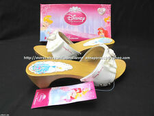#TheBestSeller 50% OFF+FREE BAG! DISNEY PRINCESS WHITE SANDALS SHOES 33/7-8 YO