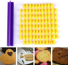 Alphabet Letter Number Cookie Press Stamp Embosser Cutter Fondant Mould Biscuits