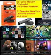 Amazon Fire TV Stick with Alexa Voice Remote JAILBROKEN  FULLY LOADED, NEW BEAST
