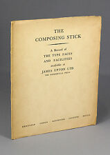 1950, Composing Stick, PRINTING, type faces, BODONI, james upton, 1st 2 issues