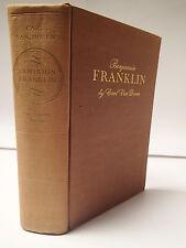 Benjamin Franklin by Carl Van Doren 1938 1st Edition