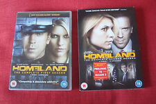 Homeland DVDs Season 1 and 2, starring Damian Lewis and Claire Danes, UK