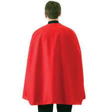 "ADULT SUPERHERO COSTUME CAPE MENS WOMENS 36"" COSTUME CAPE CLOAK BLACK RED BLUE"
