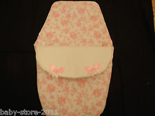 BEAUTIFUL. SPANISH STYLE  COSYTOES / FOOTMUFF ROMANY. BLING COLOUR WHITE / PINK