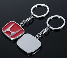 NEW 3D HONDA CHROME METAL CAR KEYRING KEYCAHIN KEYFOB WITH HONDA LOGO - UK