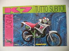 advertising Pubblicità 1990 MOTO CAGIVA K7 125