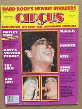 Vintage Original July 1985 Circus Magazine 'Hard Rock's Newest Invaders' Ratt
