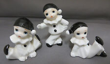 Harlequin Pierrot Clown Figurines Set of 3 Bone China 1 Repaired