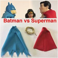 DC Kenner Super Powers Batman Vs Superman Replica Cape Lot Wonder Woman Lasso