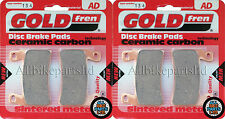 GOLDFREN FRONT BRAKE PADS (2x Sets)for: HONDA CBR600 F4 F5 F6 F7 CBR 600 CBR600F