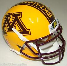 "MINNESOTA GOPHERS ALTERNATE GOLD ""BRICK BY BRICK"" SCHUTT MINI FOOTBALL HELMET"