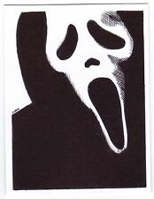 ACEO Art Sketch Card Scream Mask from Scream Trilogy Movie Series