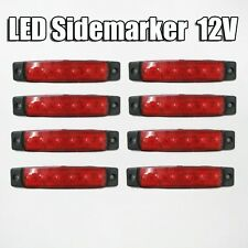Universal 8x12v Led Red Side Marker Light For Iveco Kia Toyota Scania Nissan
