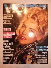 Magazine VIDEO 7 N°133 mai 1993 Sharon Stone Basic Instinct photo choc