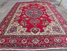 Old Traditional Hand Made Persian Rug Oriental Rug Carpet Wool Red 385x290cm