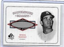 STEVE GARVEY 2001 SP COOPERSTOWN CALLING GAME USED JERSEY ~ L.A.DODGERS