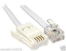 5m, BT Plug to RJ11 câble, ligne téléphonique filaire droites cordon, modem routeur plomb