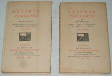 Montesquieu LETTRES PERSANES 1929 CLF nté manuscrits chateau de la Brède 2 vol.